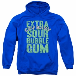 Dubble Bubble pull-over hoodie Extra Sour adult royal blue