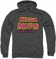 Dubble Bubble pull-over hoodie Mega Mouth adult charcoal