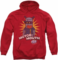 Dubble Bubble pull-over hoodie Motor Mouth adult red