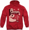 Dubble Bubble pull-over hoodie Quicksand adult red