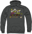 Dubble Bubble pull-over hoodie Razzles Retro Box adult charcoal