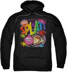 Dubble Bubble pull-over hoodie Splat Gum adult black