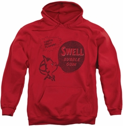 Dubble Bubble pull-over hoodie Swell Gum adult red