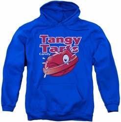 Dubble Bubble pull-over hoodie Tangy Tarts adult royal blue