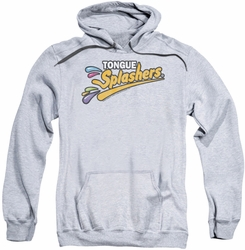 Dubble Bubble pull-over hoodie Tongue Splashers Logo adult athletic heather