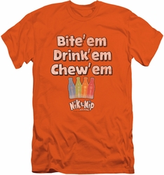 Dubble Bubble slim-fit t-shirt Bite Drink Chew mens orange