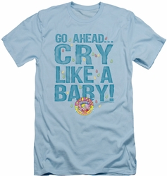 Dubble Bubble slim-fit t-shirt Cry Like A Baby mens light blue