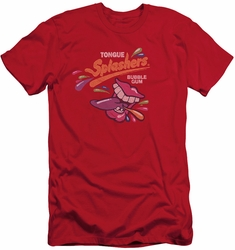 Dubble Bubble slim-fit t-shirt Distress Logo mens red