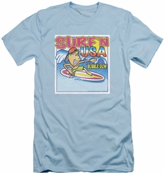 Dubble Bubble slim-fit t-shirt Surfn Usa Gum mens light blue