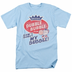 Dubble Bubble t-shirt Burst Bubble mens light blue