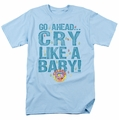 Dubble Bubble t-shirt Cry Like A Baby mens light blue