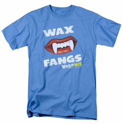 Dubble Bubble t-shirt Wax Fangs mens carolina blue