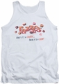 Dubble Bubble tank top A Gum And A Candy mens white