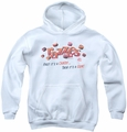 Dubble Bubble youth teen hoodie A Gum And A Candy white