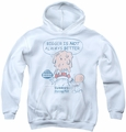 Dubble Bubble youth teen hoodie Bigger white
