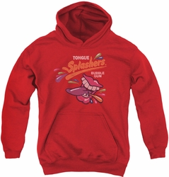 Dubble Bubble youth teen hoodie Distress Logo red