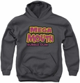 Dubble Bubble youth teen hoodie Mega Mouth charcoal