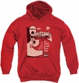 Dubble Bubble youth teen hoodie Quicksand red