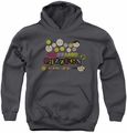 Dubble Bubble youth teen hoodie Razzles Retro Box charcoal
