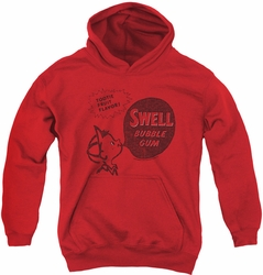 Dubble Bubble youth teen hoodie Swell Gum red