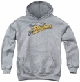 Dubble Bubble youth teen hoodie Tongue Splashers Logo athletic heather