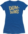 Dum Dums juniors t-shirt Distressed Logo Royal Blue