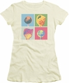 Dum Dums juniors t-shirt Pop Art cream