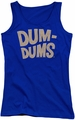 Dum Dums juniors tank top Distressed Logo royal