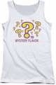 Dum Dums juniors tank top Mystery Flavor white