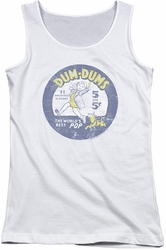 Dum Dums juniors tank top Pop Parade white