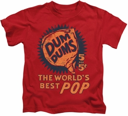 Dum Dums kids t-shirt 5 For 5 red