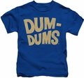 Dum Dums kids t-shirt Distressed Logo royal
