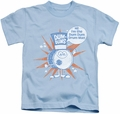 Dum Dums kids t-shirt Drum Man light blue