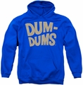 Dum Dums pull-over hoodie Distressed Logo adult royal blue