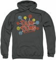 Dum Dums pull-over hoodie Original Pops adult charcoal