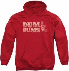 Dum Dums pull-over hoodie World's Best adult red