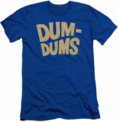 Dum Dums slim-fit t-shirt Distressed Logo mens royal