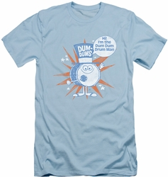 Dum Dums slim-fit t-shirt Drum Man mens light blue