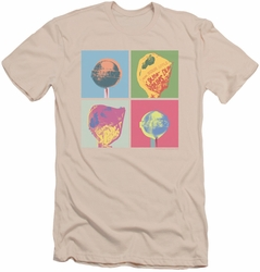 Dum Dums slim-fit t-shirt Pop Art mens cream