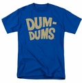Dum Dums t-shirt Distressed Logo mens Royal Blue
