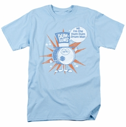 Dum Dums t-shirt Drum Man mens light blue