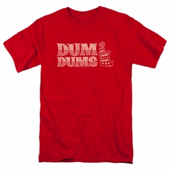 Dum Dums t-shirt Worlds Best mens red