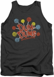 Dum Dums tank top Original Pops mens charcoal
