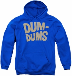 Dum Dums youth teen hoodie Distressed Logo royal blue