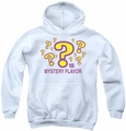 Dum Dums youth teen hoodie Mystery Flavor white