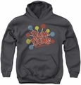 Dum Dums youth teen hoodie Original Pops charcoal