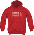 Dum Dums youth teen hoodie World'S Best red