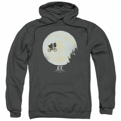 E.T. pull-over hoodie In The Moon adult charcoal