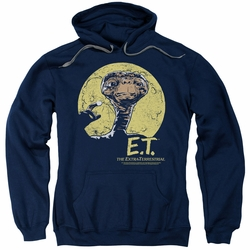 E.T. pull-over hoodie Moon Frame adult navy