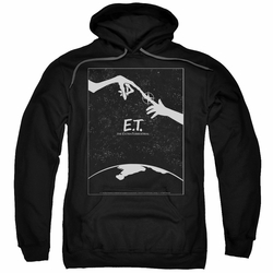 E.T. pull-over hoodie Simple Poster adult black